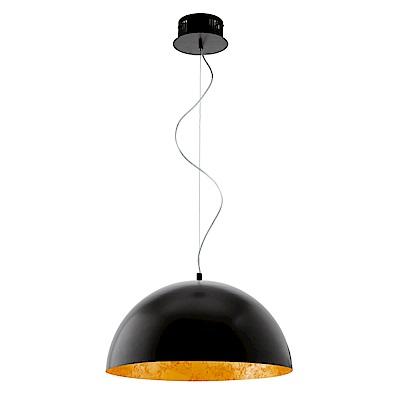 EGLO歐風燈飾 工業黑LED燈罩式吊燈