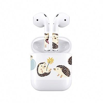 mogen AirPods 隨身耳機保護貼 刺蝟款