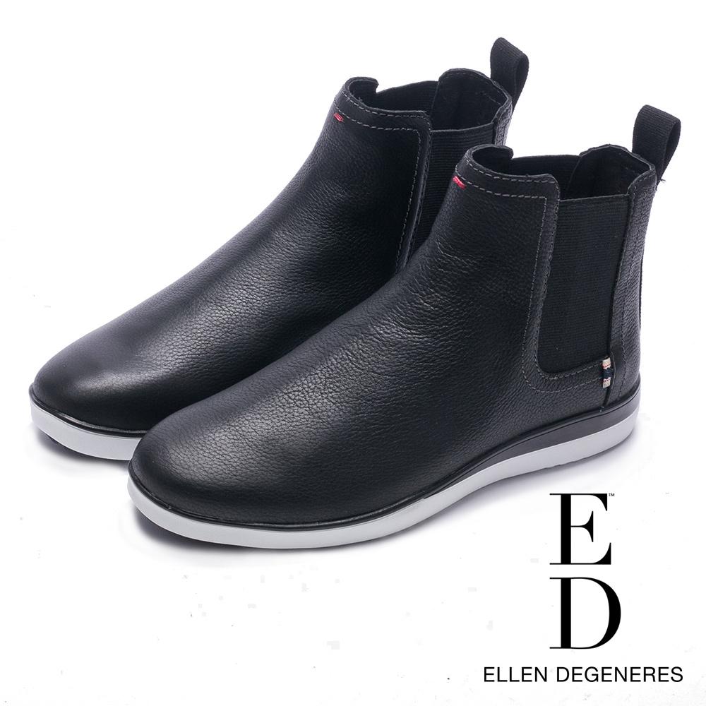 ED Ellen DeGeneres 溫暖麂皮伸縮帶雀兒喜靴-黑色
