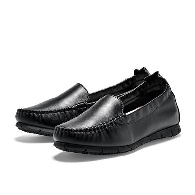 TRAVEL FOX 素雅舒適休閒懶人鞋-黑
