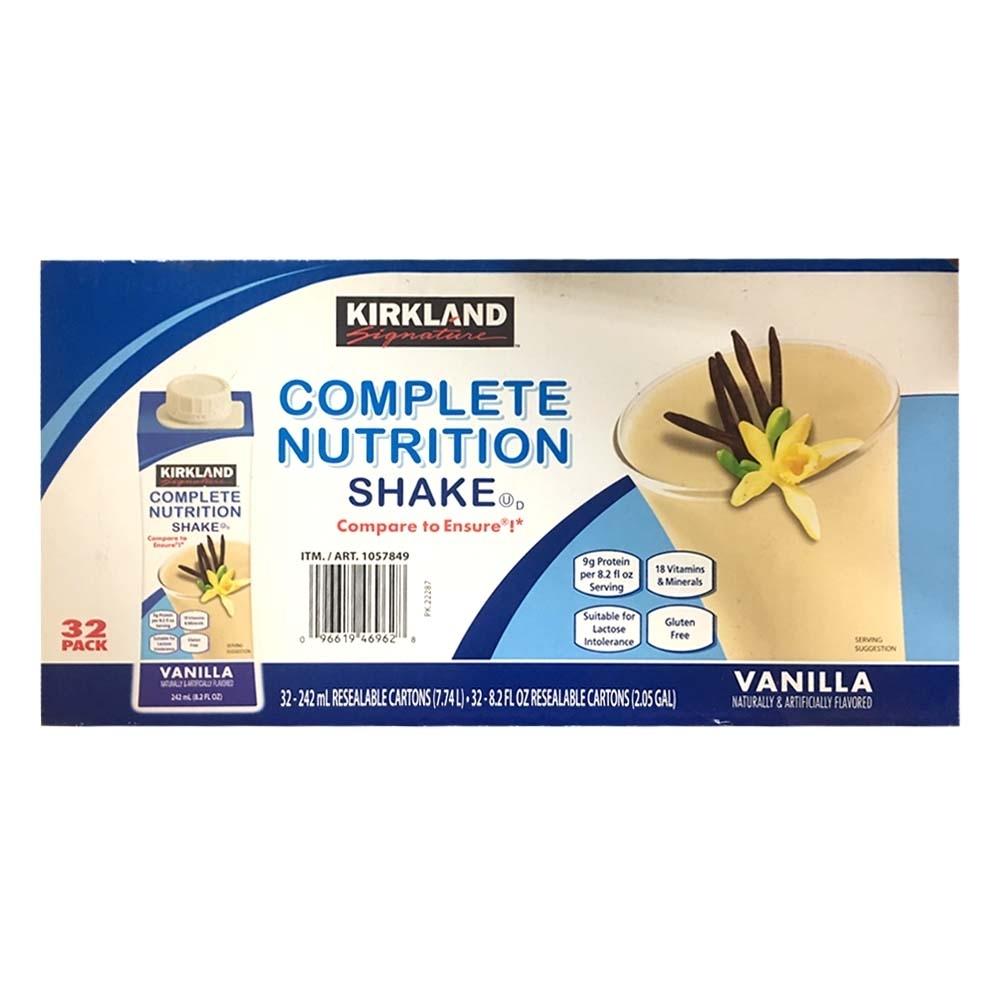 Kirkland signature 營養補充飲品 香草口味 242毫升 x 32入