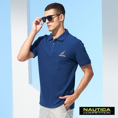 Nautica COMPETITION男裝簡約時尚短袖POLO衫-藍