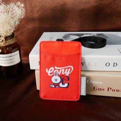 【OUTDOOR】LINE聯名款-校隊兔兔卡片證件套-紅色 ODBF20B06RD
