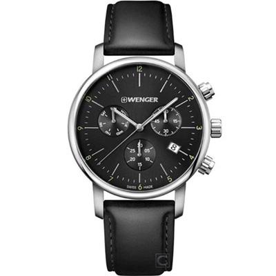 WENGER Urban 移動迷宮計時腕錶(01.1743.102)黑/44mm