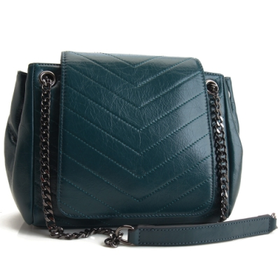 MOROM 真皮奢華美感造型三用包(綠色)