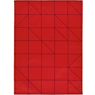 ZONE 棋盤餐廚布巾(紅)