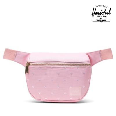 【Herschel】Fifteen 腰包-粉紅點點