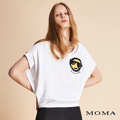 MOMA 圓領亮片刺繡上衣