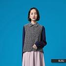 【MOSS CLUB】修閒拼接長袖-襯衫(藍色)