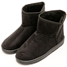 River&Moon雪靴-韓版繽紛細絨內撲毛短雪靴 黑