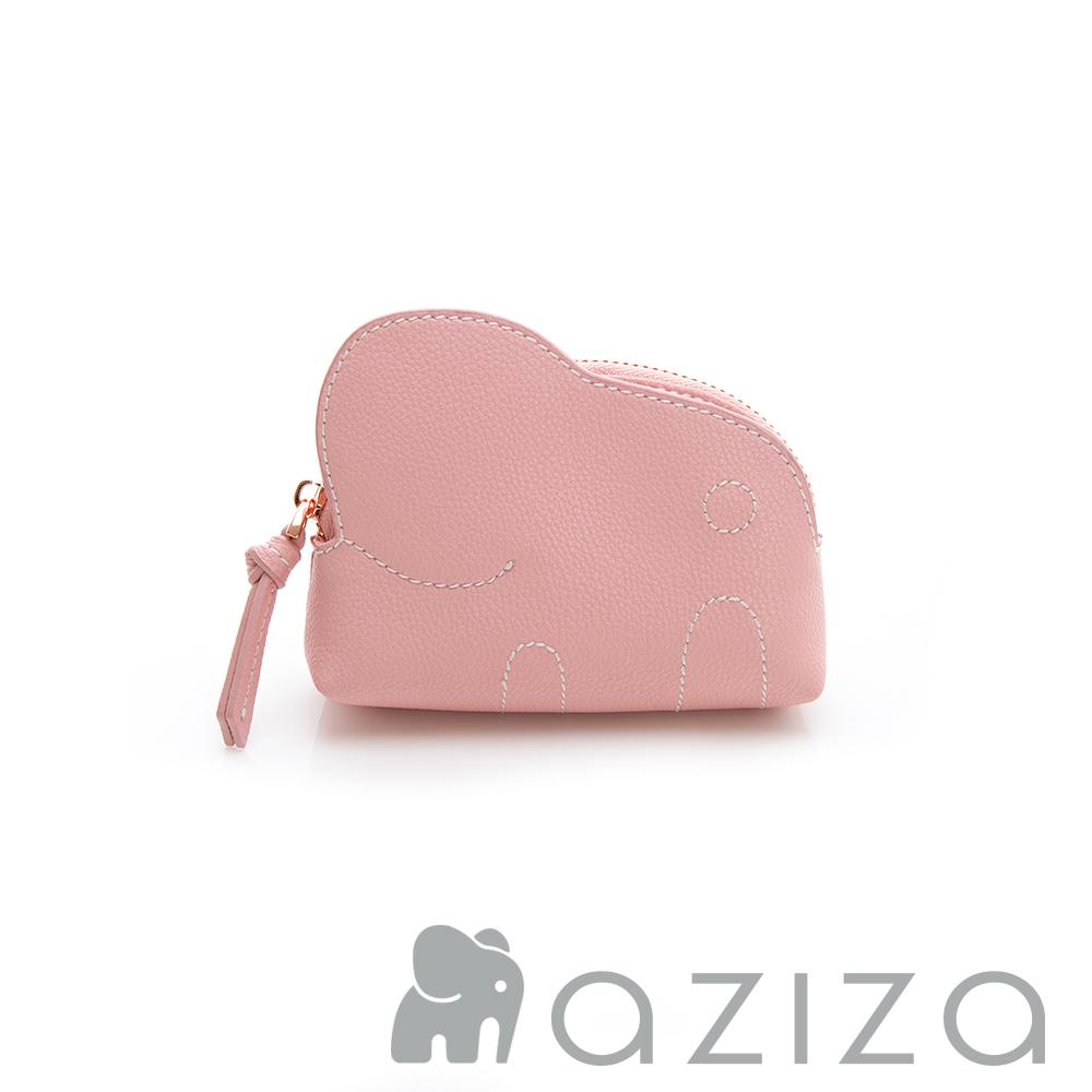 aziza 小象零錢包-粉
