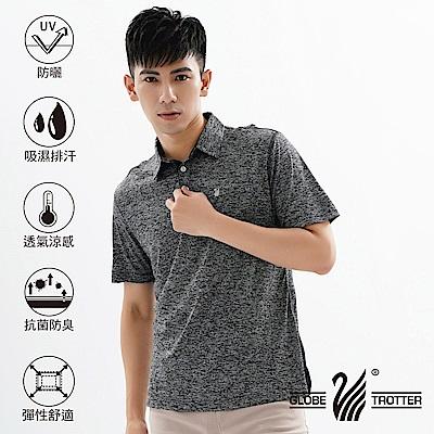 【遊遍天下】MIT男款吸濕排汗抗UV速乾機能POLO衫GS10023灰色