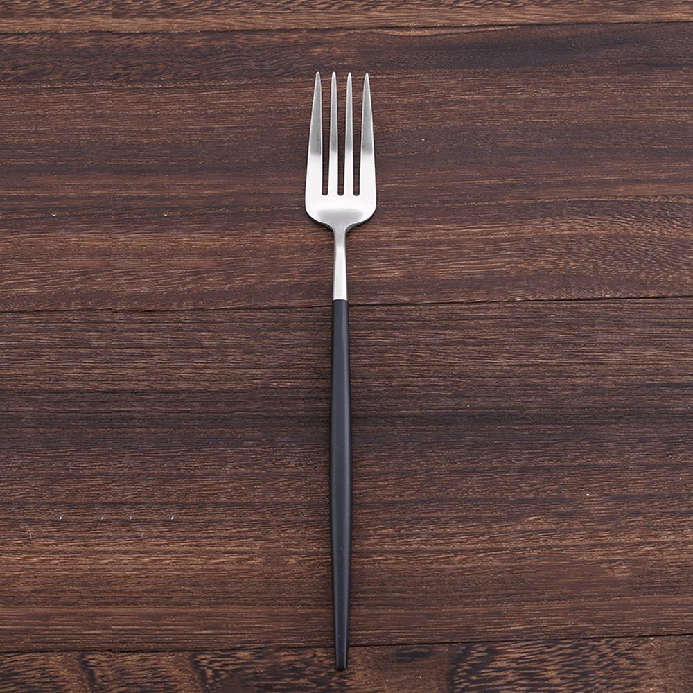 Royal Duke 葡萄牙同款餐叉-黑銀色(歐洲時尚簡約)