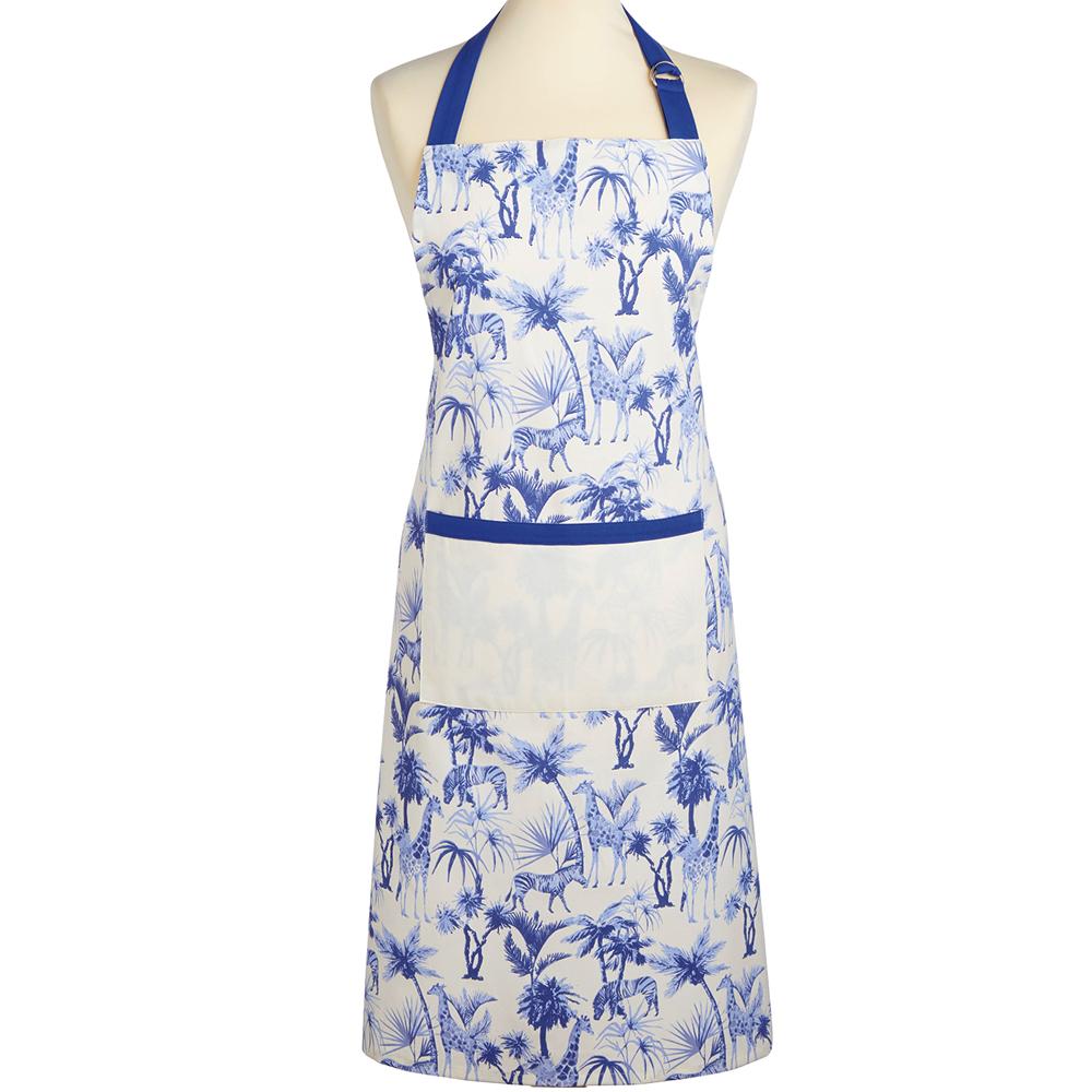 《KitchenCraft》平口單袋圍裙(非洲藍調)
