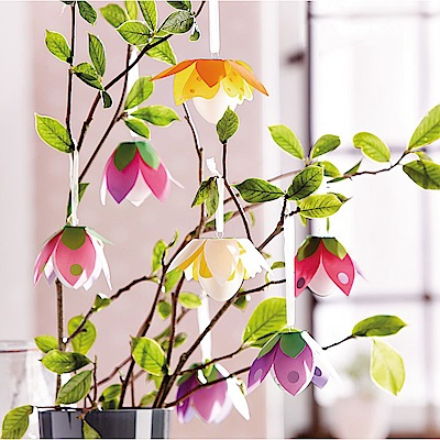 JAKO-O 德國野酷 創意手作組–吊掛花朵(12入)