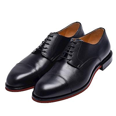 HERMES 經典Review derby系列滑面小牛皮綁帶紳士鞋(黑)