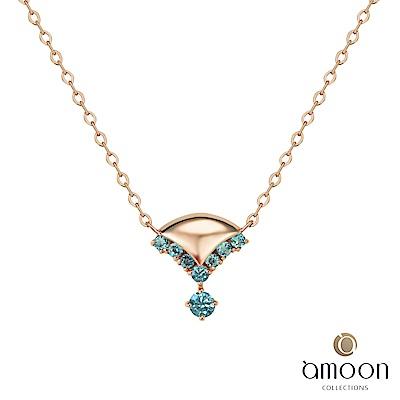 amoon 韓情脈脈系列 寶貝 14K金寶石項鍊