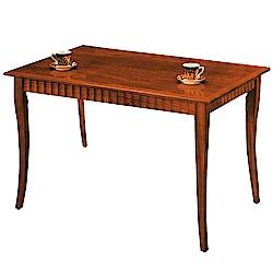 綠活居 溫尼莎時尚4.2尺木紋餐桌(二色可選)-126x81x75cm-免組