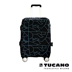 TUCANO X MENDINI 高彈性防塵行李箱保護套 S-黑