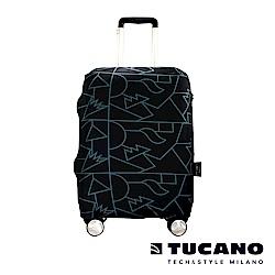 TUCANO X MENDINI 高彈性防塵行李箱保護套 M-黑