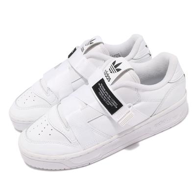 adidas 休閒鞋 Rivalry Low W Strap 女鞋 愛迪達 黏扣帶 皮革 簡約 球鞋 穿搭 白 黑 EF6428