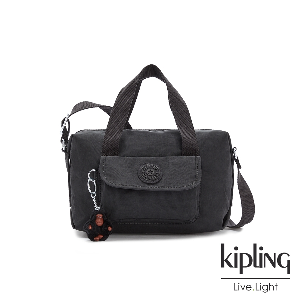 Kipling 質感黑波士頓手提兩用包-BRYNNE