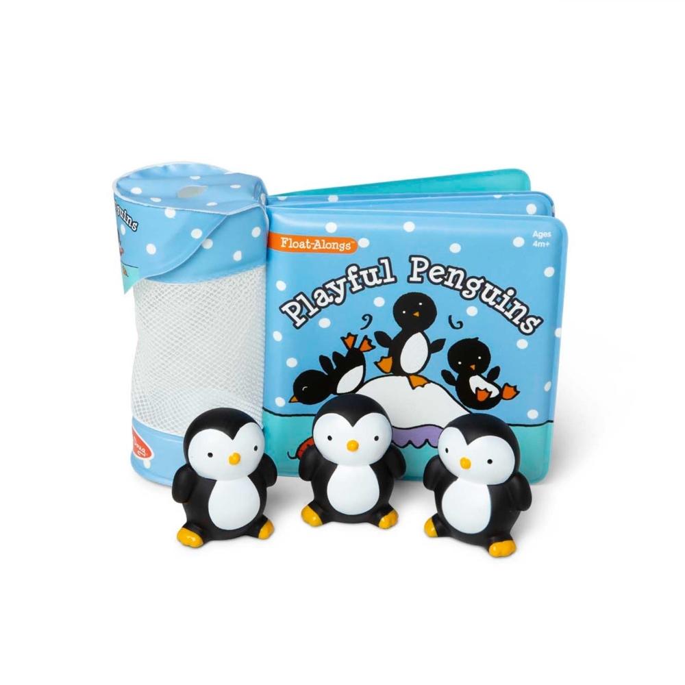 【Melissa & Doug 美國瑪莉莎】洗澡玩具書 - 調皮企鵝