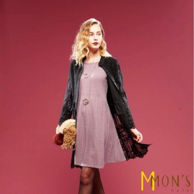 MONS 長版蕾絲造型外套/罩衫