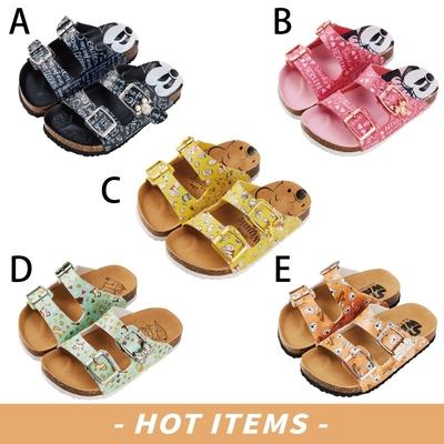 時時樂限定 迪士尼童鞋 質感造型飾釦休閒拖鞋-五款