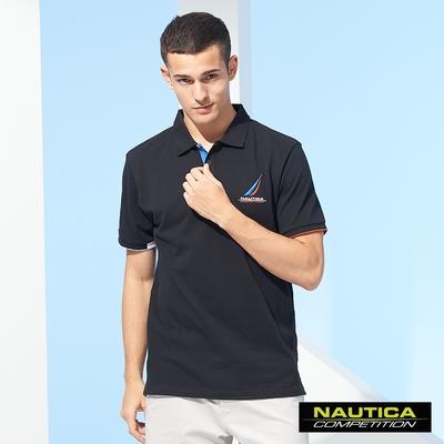 Nautica COMPETITION男裝簡約時尚短袖POLO衫-黑