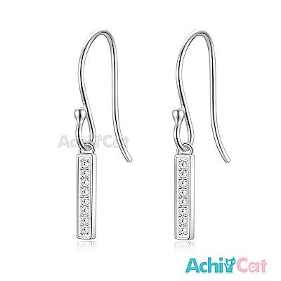 AchiCat 925純銀耳環 簡約一字 純銀耳環