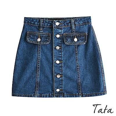 排扣牛仔短裙 TATA