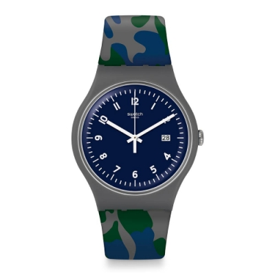 Swatch Core Refresh 系列手錶 CAMOUGREEN 迷彩綠蹤-41mm
