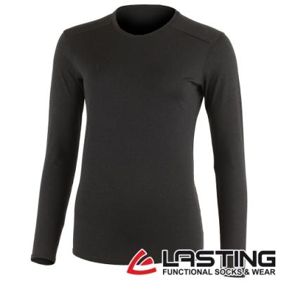 【LASTING捷克】女款羊毛抑菌除臭透氣保暖內著長袖T恤LT-LADA黑