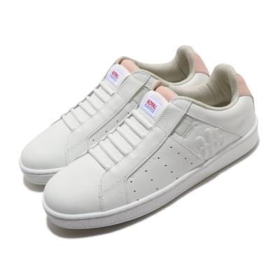 Royal Elastics 休閒鞋 Icon Genesis 穿搭 女鞋 基本款 皮革 簡約 套腳 舒適 白 粉 91902016