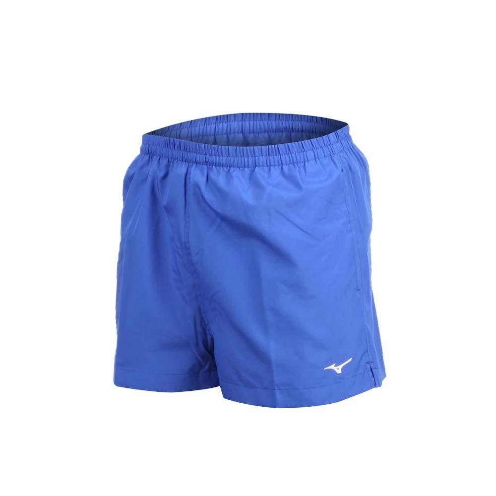 MIZUNO 男路跑短褲-慢跑 健身 訓練 三分褲 美津濃 藍白