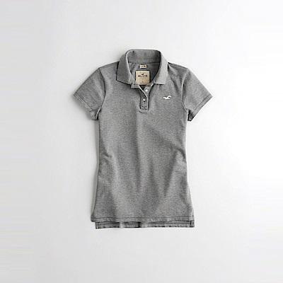 海鷗 Hollister 經典海鷗刺繡標誌短袖Polo衫(女)-灰色