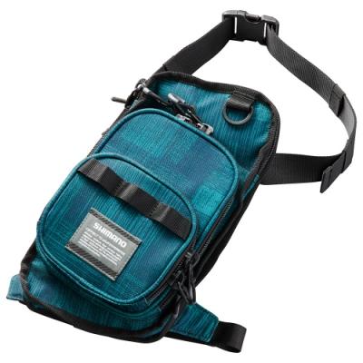 【SHIMANO】RUN&GUN 釣魚腿包 水紋藍 WB-022R