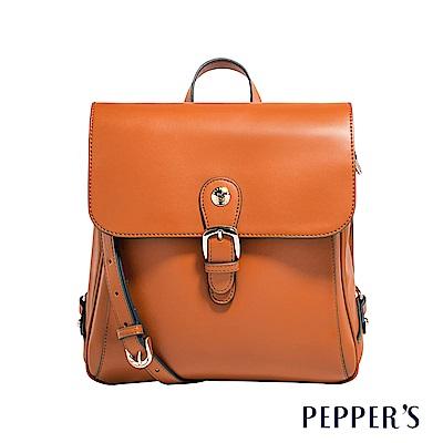 PEPPER`S Aurora 牛皮後背包 - 焦糖棕