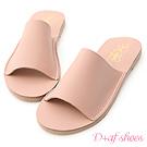 D+AF 愜意搭配.超軟一字平底涼拖鞋*粉