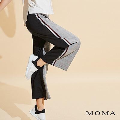 MOMA 格紋織條長褲