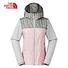 The North Face北面女款粉色防潑水可收納式連帽風衣外套|3VMW9JP