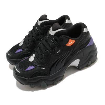Puma 休閒鞋 Pulsar Wedge 穿搭 女鞋 厚底 舒適 時尚潮流 明星款 皮革 簡約 黑 紫 37393902