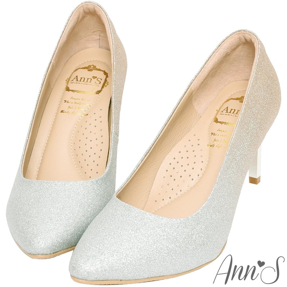 Ann'S高雅華麗2.0-漸層色調電鍍鞋跟尖頭高跟鞋-金