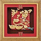 純金祥和金箔畫系列~【柿柿如意 事事如意】....24 x24 cm