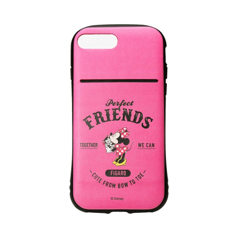 iPhone 8/7 Plus 海外限定 迪士尼 軍規防摔 插卡 軟殼 5.5吋-米妮