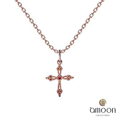 amoon 璀璨彩寶系列 相信 10K金寶石墜子 送18K金純銀項鍊