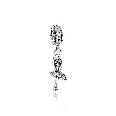 Pandora 潘朵拉 魅力芭蕾舞者鑲鋯 垂墜純銀墜飾