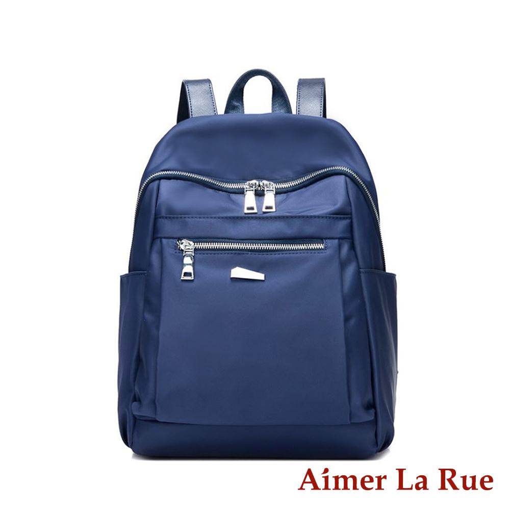 Aimer La Rue 輕量休閒尼龍後背包-藍色(快) @ Y!購物