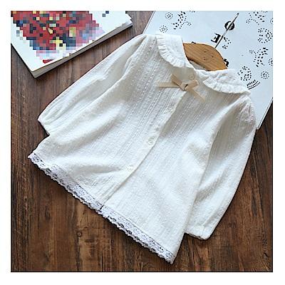 【韓品童裝】女童 中小童氣質款白色長襯衫